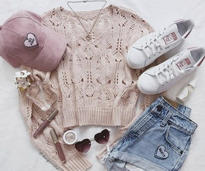 adidas, style, and pink image