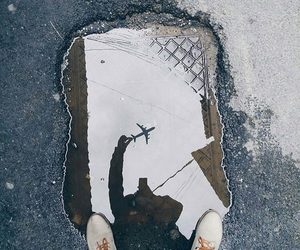photography, airplane, and travel image