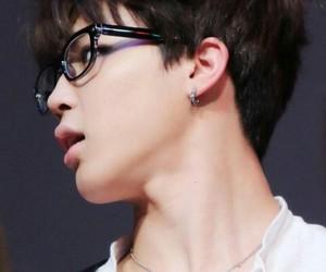 glasses, jimin, and Hot image