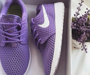 purple, nike, and shoes image