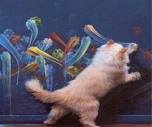 cat, art, and animal image