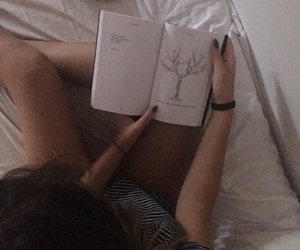aesthetic, bed, and book image
