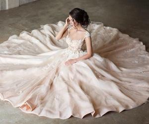 bridal, princess, and wedding dress image