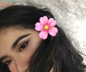 flower, makeup, and cass image