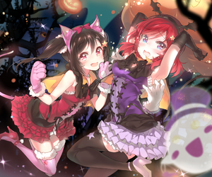 Halloween and love live image