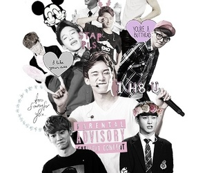 black and white, Chen, and fan edit image