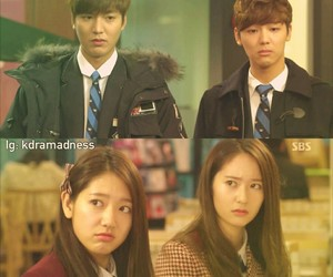 lee min ho, krystal, and park shin hye image
