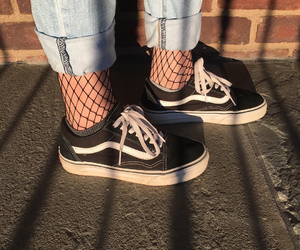 vans, girl, and style image