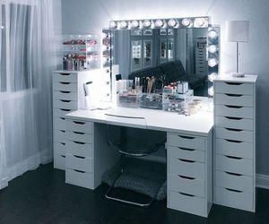 makeup, girly, and interior image