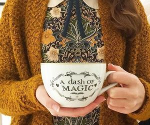 magic, cup, and fall image