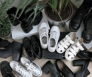 shoes, grunge, and black image