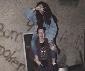 grunge, couple, and boy image
