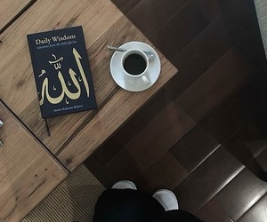 allah, book, and coffee image
