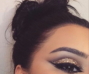 eyebrows, fashion, and girls image