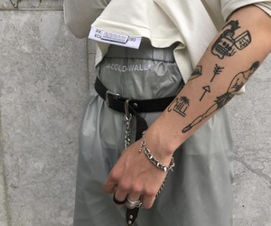 tattoo, grey, and style image