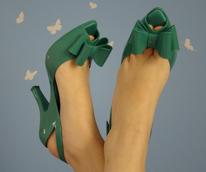 blue, butterfly, and foots image