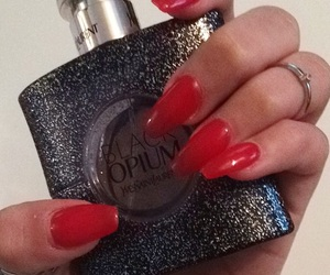 nails, red, and sexy image