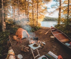 camping, nature, and autumn image