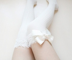 pale, white, and socks image