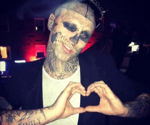 zombie boy, boy, and tattoo image