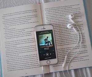 ears, music, and phone image