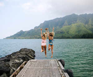 girl, adventure, and best friends image