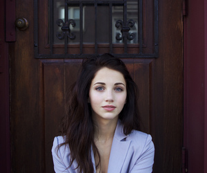 girl, blue eyes, and brunette image