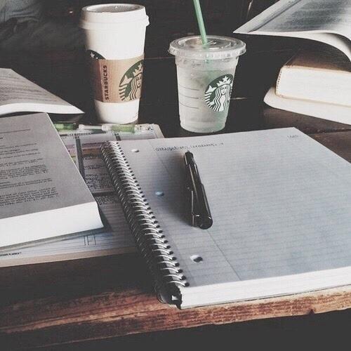 school, study, and starbucks image