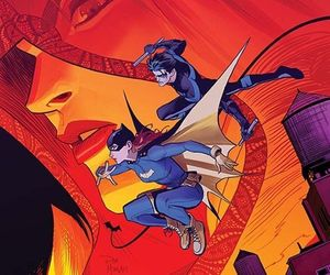 batgirl, nightwing, and dick grayson image