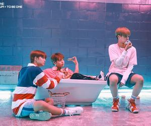 behind the scene, donut, and boy group image