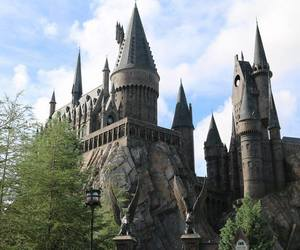 castle, harry potter, and magic image