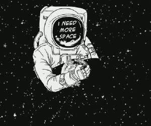 space, quotes, and stars image