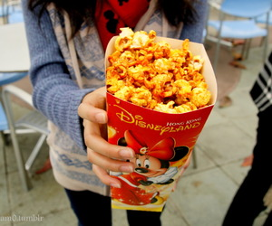 disneyland, food, and popcorn image