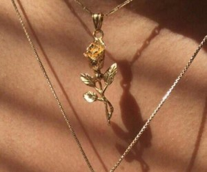 chain, gold, and rose image