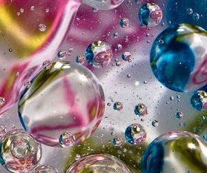 bubbles, water, and color image
