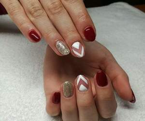 almond, glitter, and red image