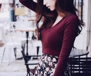 brunette, girly, and vintage image