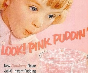 pink, vintage, and pudding image