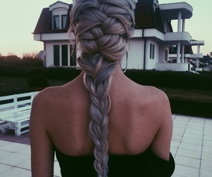 braids, dress, and hairstyles image