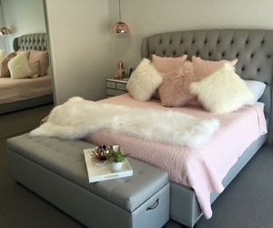 bed, like, and girly image