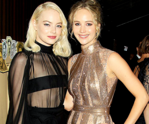 emma stone, Jennifer Lawrence, and pretty image