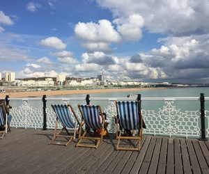 beach, brighton, and weekend image