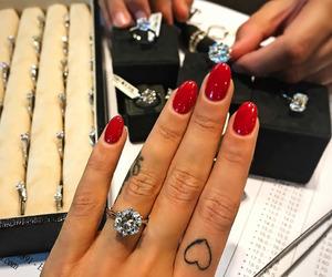 nails, tattoo, and ring image
