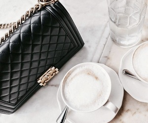 chanel, coffe, and boybag image