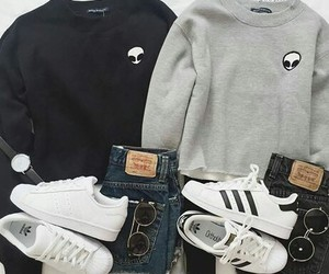 adidas, fashion, and alien image