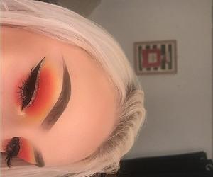 autumn colors, cut crease, and eye makeup image