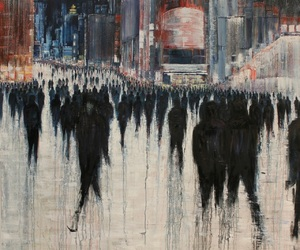 art, people, and black image