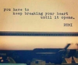 quotes, heart, and Rumi image