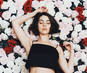 reign, adelaide kane, and flowers image