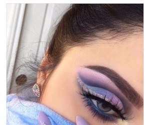 eyeshadow, brows, and purple image